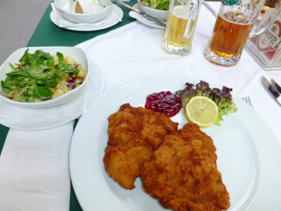 Porterhouse : Wiener Schnitzel and Yummy Potatoes