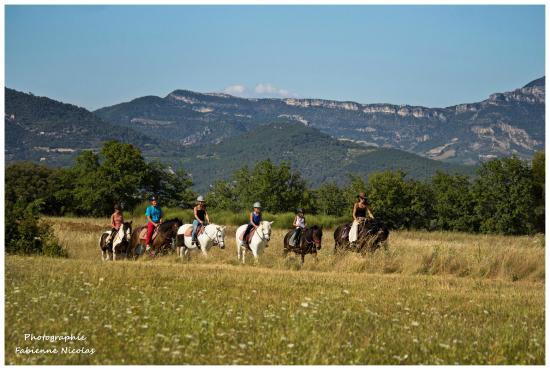 balade avec Clémence et les chevaux de Corambé - juillet 2015