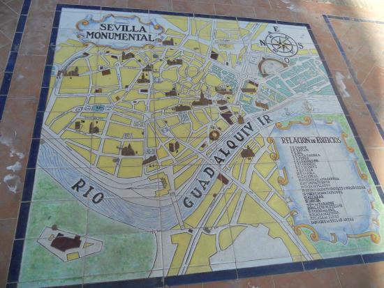 mapa praça de espanha Praça de Espanha   mapa em azulejo   Picture of Plaza de Espana  mapa praça de espanha