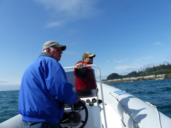 Depoe Bay, Орегон: Captain and my son.