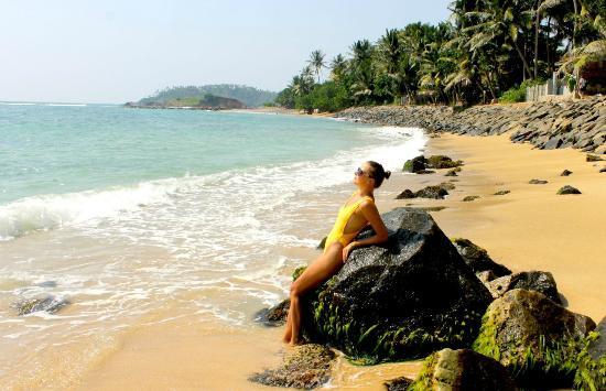 Sunray Resort Mirissa : Sunray Resort beach