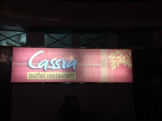 CASSIA : Sign at the building entrance to basement