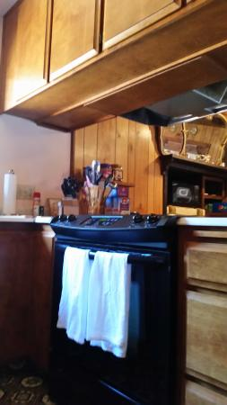 Lake Almanor Peninsula, CA: electric range with no exhaust vent