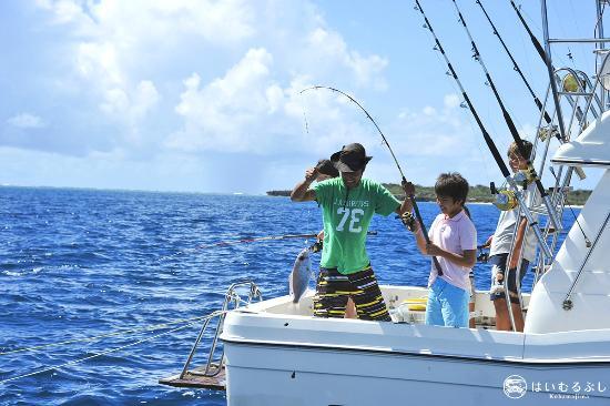 はいむるぶし, 釣った魚夕食時にお造りや塩焼き、煮付け等でお召し上がりいただけます。