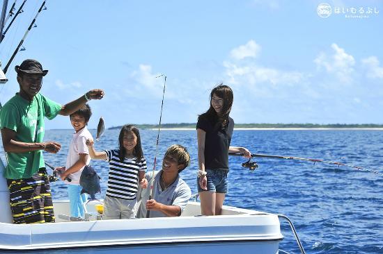 はいむるぶし, 子供も安心して参加できる船釣り体験。釣った魚は夕食時にお召し上がりいただけます。