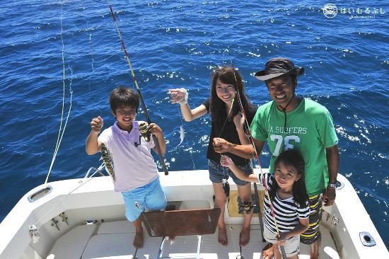 はいむるぶし, 子供も一緒に楽しめる船釣り体験コース。釣った魚は夕食時にお召し上がりいただけます。