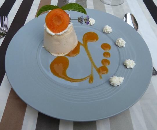 Gincla, Prancis: Superbe dessert ! Une mousse glacée d'abricot !