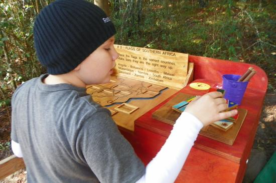 Plett Puzzle Park: Puzzle station - giving our 10 year old's brain a workout