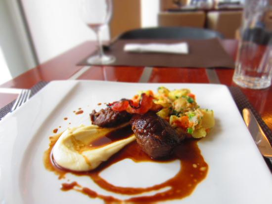 Bohemica Old Town: Confited pork cheeks with parsnip purée and demi-glace