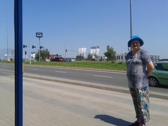L'arrêt de bus de l'hôtel Margerita à Cracovie