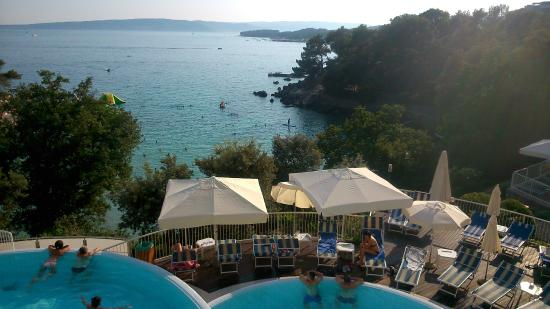 Krk, Croacia: View from the terrace bar