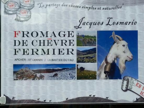 Fontanges, France: Fournisseur regional