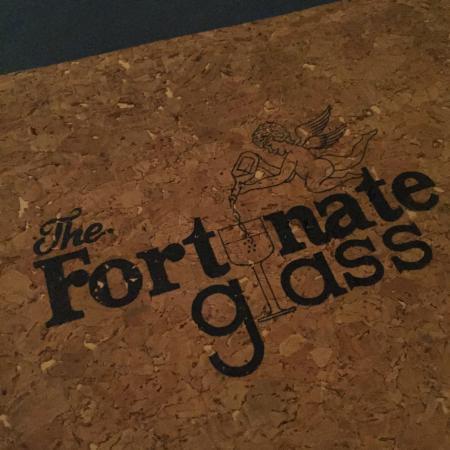 The Fortunate Glass: menu