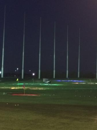 TopGolf The Colony : TopGolf Range with lighted holes.