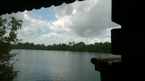 Restaurante Cenote Azul: vista dal ristorante