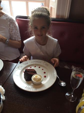 My daughter's holy communion at Watters Old Coach Inn
