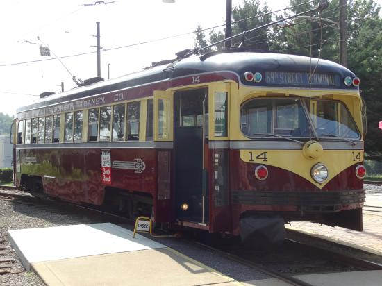 Pennsylvania Trolley Museum: One of the trolleys you can ride.