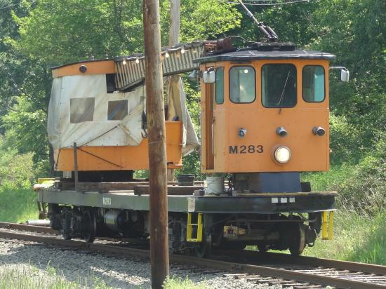 Pennsylvania Trolley Museum: Trolley crane used for track repair.
