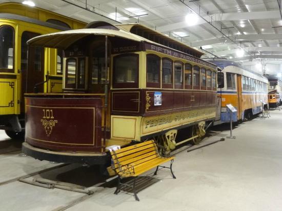 Pennsylvania Trolley Museum: Mule drawn trolley.