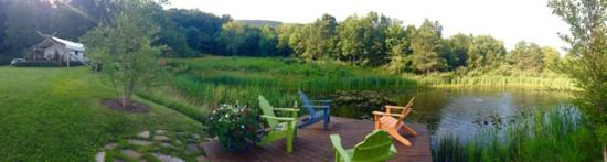 The Depot Lodge: The private pond