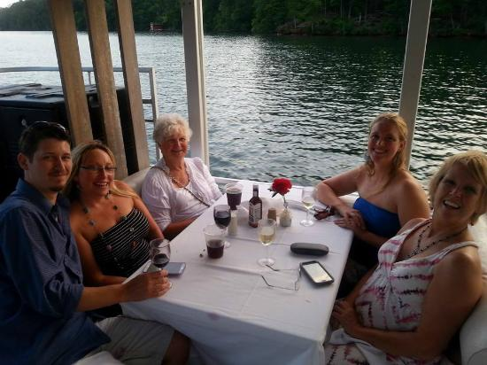 Lakeview Restaurant at Rumbling Bald Resort: our table