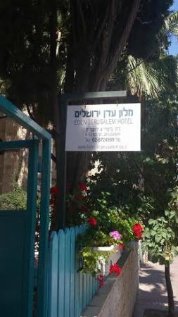 Eden Jerusalem Hotel: Sign