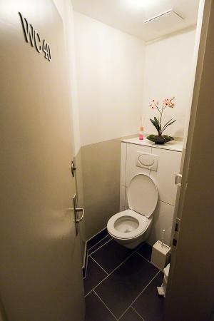 Hotel Sunnehus: Externe, private Toilette zum Einzelzimmer