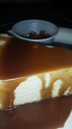 Michigamme, MI: Cheesecake with  Bourbon Caramel Sauce