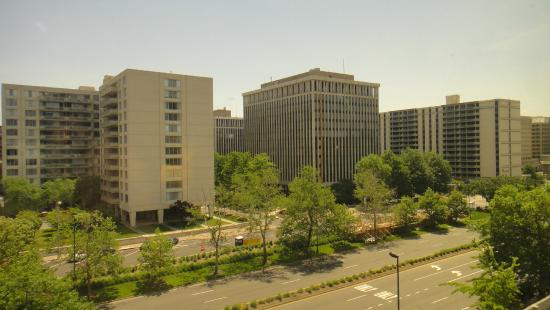 View From The Window Picture Of Hilton Garden Inn Reagan National Airport Hotel Arlington