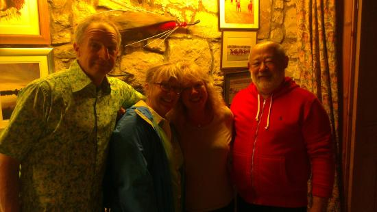 Grouse and Claret: From left, me, wife (Robin), Vicky and David