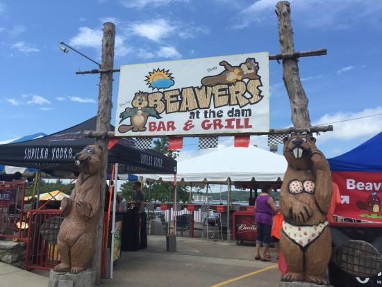 Beavers at the Dam : Outside upper Tiki Bar