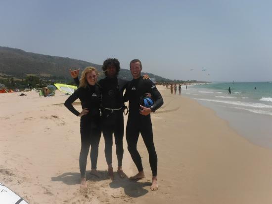 Dragon Tarifa Kite School: Samantha, Alex (Instructor), Josh