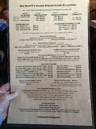 Manhattan, MT: Their incredible menu!