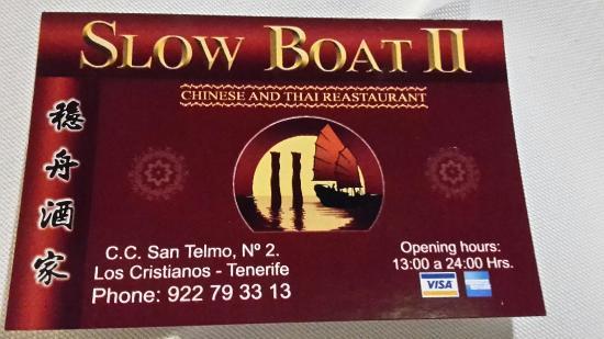 Slow Boat II : Nice chinese