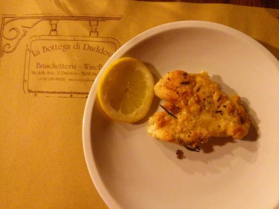 Duddova, Italia: Pollo al limón.