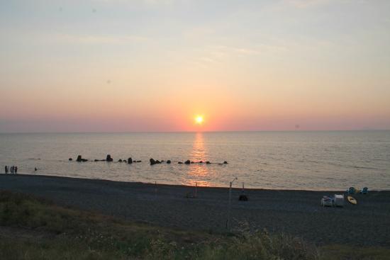 B&B Stella Marina: Spiaggia al tramonto
