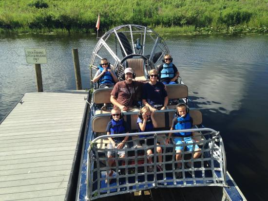 The after our airboat tour picture of grape hammock for Grape hammock fish camp