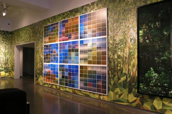 Wall art near hotel front desk - Picture of 21c Museum Hotel ...
