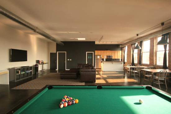 Urban Holiday Lofts: Common Area With Pool Table