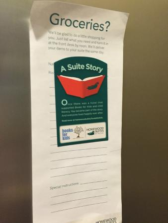 Homewood Suites by Hilton Carle Place - Garden City: Groceries that they'll pick up for you?!  Hey, that's pretty cool.