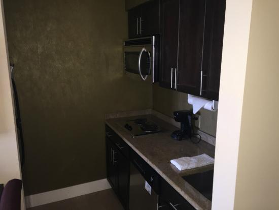 Homewood Suites by Hilton Carle Place - Garden City: Too dark - I should have used a flash.  Clean kitchen. New appliances.