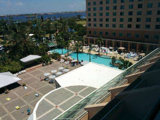 The Pool From The 6th Floor Picture Of Moody Gardens Hotel Spa Convention Center Galveston