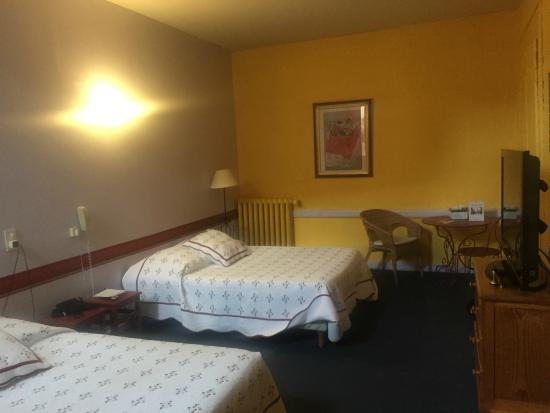 Hotel des Alpes : Large room with two beds