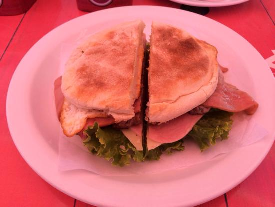 Praia Dos Reis Magos: Awesome steak sandwich!!