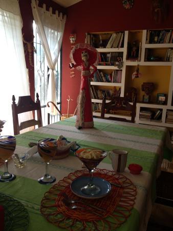 Casa Alvarada: Se desayuna en un lugar hermoso y todo muy limpio