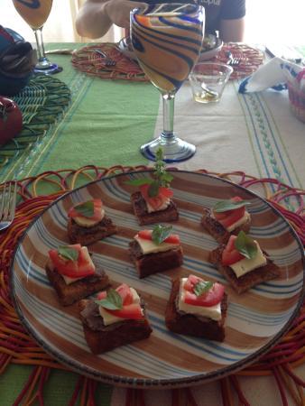 Casa Alvarada: EL desayuno es muy rico y sano