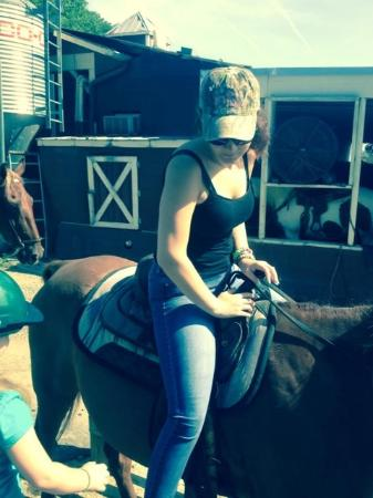 Five Oaks Riding Stables: My daughter-in-law on Rambo