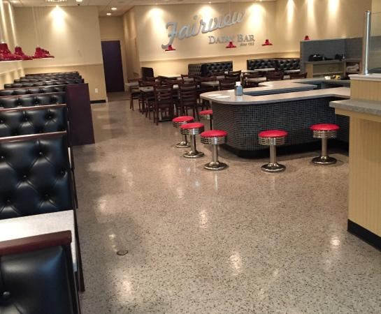 Dairy Bar Fairview: counter and booths