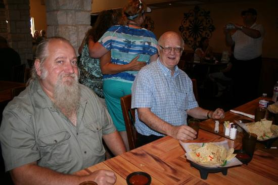Esparza's Restaurante Mexicano: With my Civil War enactment/historian James McGee (and about 30 others) for a grand luncheon get