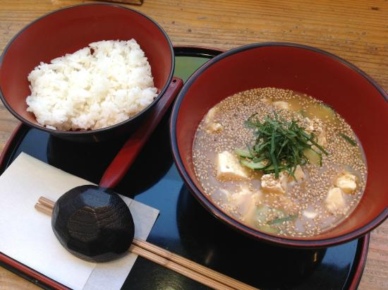 Shinjuku Miyazakikan Konne Keishoku Corner: あっさり冷や汁